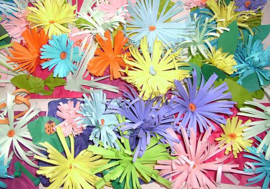 Как сделать клумбу цветов из бумаги 2