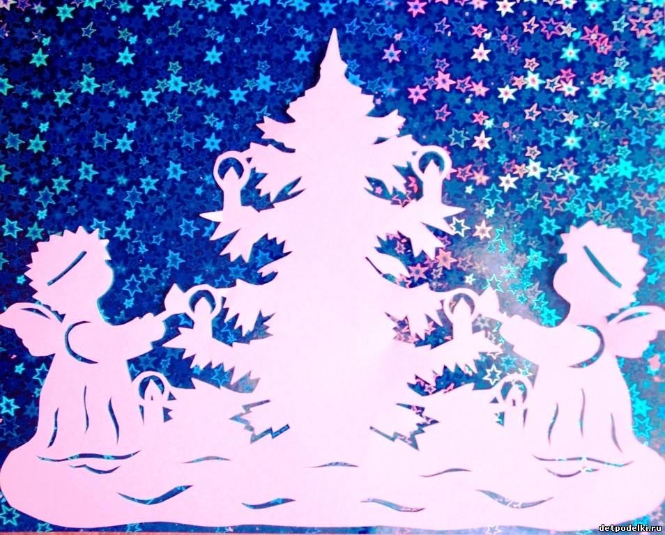 Ангелочек из бумаги на новый год своими