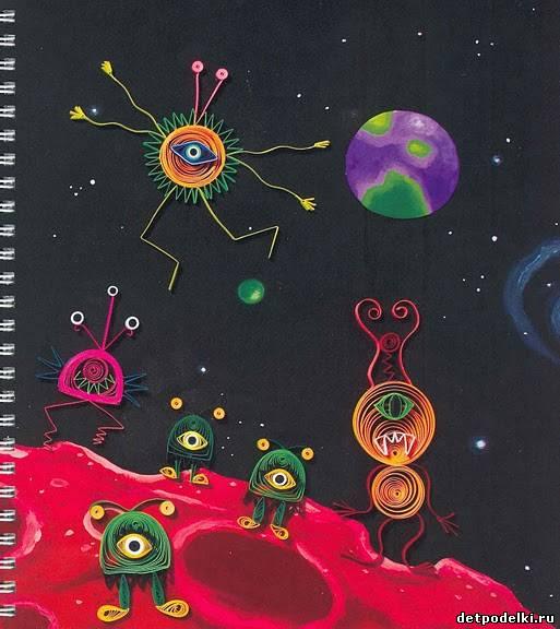 Поделки для детей на тему космос
