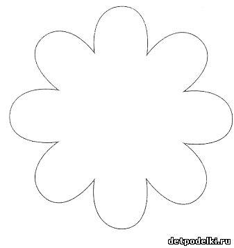 Как сделать шаблон для цветка из бумаги